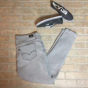 Levi's Gray Skinny Stretch Factory Fade Size 33X30